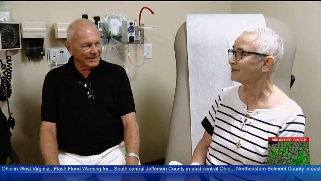 Woman Receiving Experimental Treatments For Pancreatic Cancer At UPMC